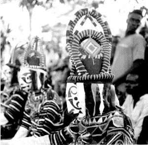 Obugula Mmau, daughter masks, Amuobia village
