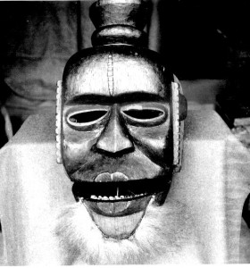 "Mask ""Cross River mask"" collected by P.A. Talbot, probably Abiriba. In Pitt Rivers Museum, Oxford"