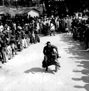 Dancer  Ogbukele festival,  Ekpafia Igbo