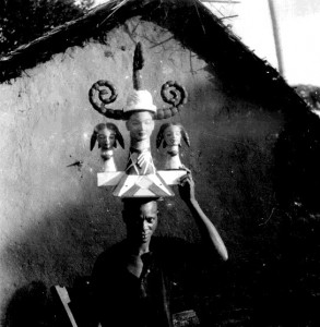 Modern Ekpe (Igbo) head piece. Modern Ibibio in style and may have been carved by them