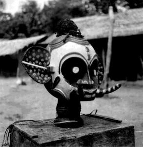 Ekpe (Igbo) head representing an elephant (Ndokki)