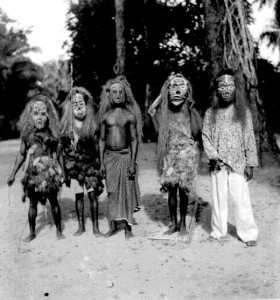 Five Ekpe (Igbo) masks Ubakala