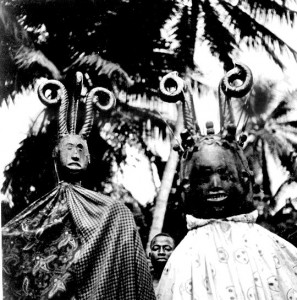 Two skin covered heads Uzuakoli