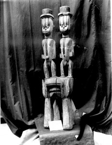Carved wooden shrine object South Ika, Aboh town