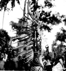 Feathered Headdress Ogonya Play, Ogume village, South Ika