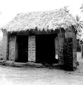 House with carved panels Nri-Awka