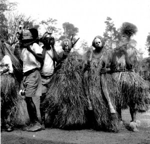 A group of masks, Boys initiation, Obohia