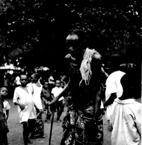 Elder attending Ajouku  masquerade Ovim village