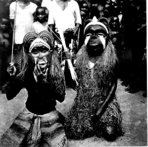 Two masquerades from Uzuakoli (Ibibio)
